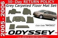 Genuine OEM Honda Odyssey Grey Carpeted Floor Mat Set 2005 ...