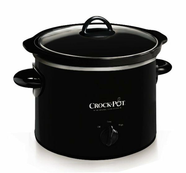 Crock Pot Original Slow Cooker Classic 2 Quart Black Heat Settings