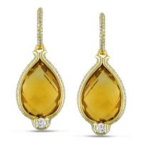 Miadora Signature Collection 14k Gold Citrine and 1 1/10ct