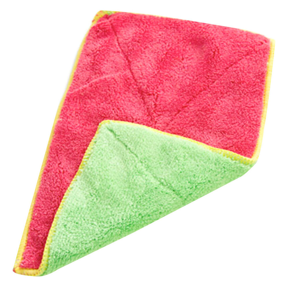 Kitchen Cleaning Bamboo Fiber Dishcloths Clean Bowl Water Absorbent Dish Towel  eBay