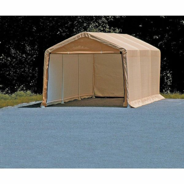 Portable Auto Storage Shelter Tan Car Canopy 10 Ft X 20 Vehicle Garage Tent