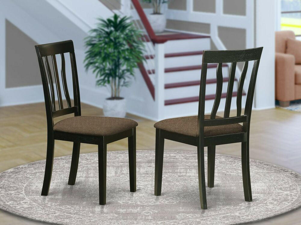 Set of 2 Antique dinette kitchen dining chairs with