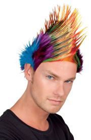 mohican wig 80s party mens spiky