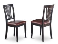 Set of 2 Avon dinette kitchen dining chairs with faux ...