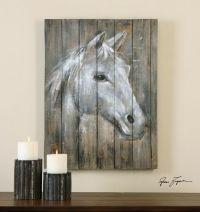 Rustic Reclaimed Wood Horse Wall Art | Painting Lodge ...