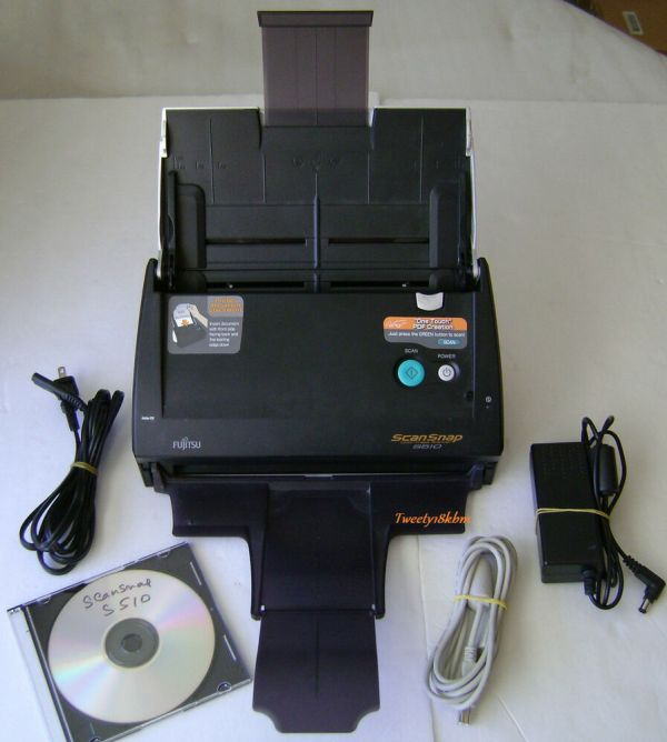 Fujitsu Scansnap S510 Color Scanner - Pa03360-b515 97564307218