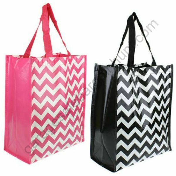 Chevron Reusable Shopping Bag Gift Bags with Handles Party
