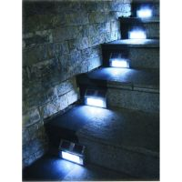 6 Solar Powered Steel LED Lights Pathway Path Step Stair ...