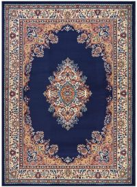Persian Madallion Navy Blue Traditional Area Rugs Carpet ...