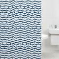Nautical anchor shower curtain white and navy blue polyester 12 free