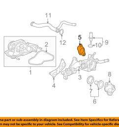 details about acura honda oem 19412 p8a a02 engine coolant outlet gasket [ 1000 x 798 Pixel ]