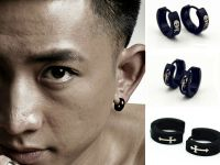 1 Pair COOL Punk Men Women Gothic Stainless Steel Ear ...