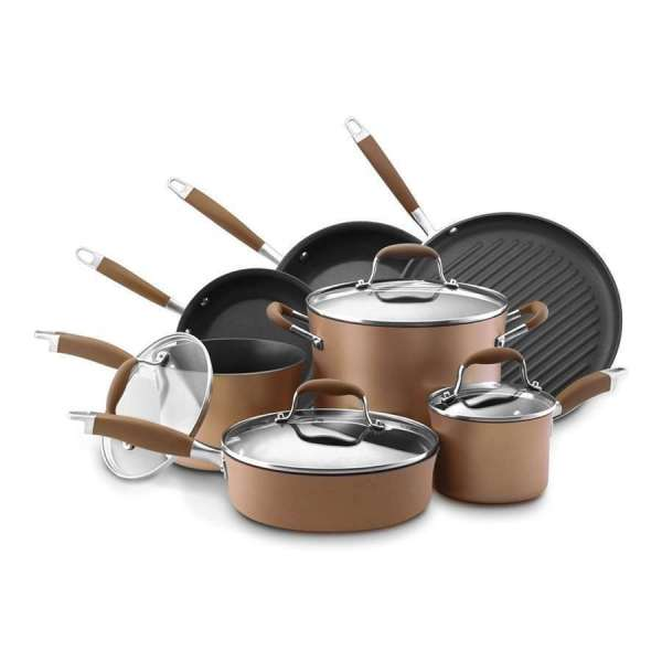 Anolon Advanced Bronze Hard-anodized Nonstick 11-piece Cookware Set - 82693