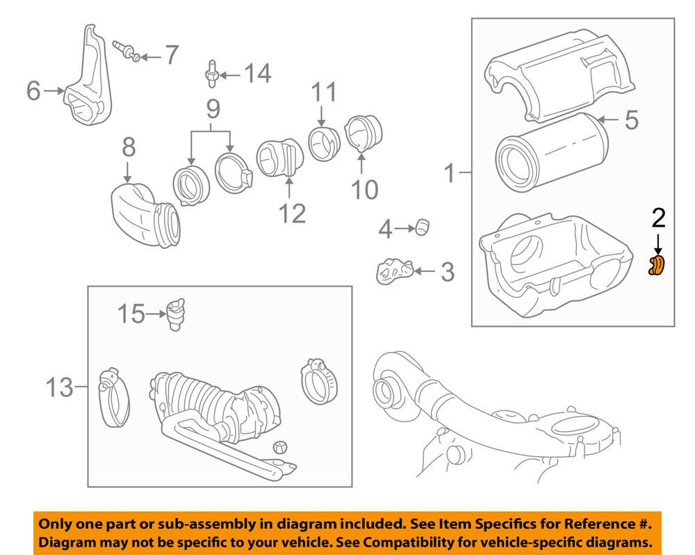 medium resolution of details about gm oem air cleaner intake air cleaner clip 25043286