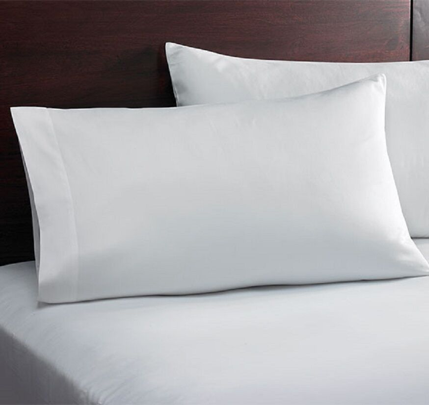 6 WHITE QUEEN SIZE HILTON HOTEL FITTED SHEETS T180 PERCALE