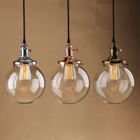 "7.9"" GLOBE SHADE ANTIQUE VINTAGE INDUSTRI PENDANT LIGHT"