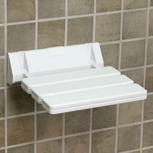 Signature Hardware Wall Mount Folding Shower Seat With