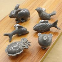 2x Cartoon Animal Children Cabinets Knobs Cupboard Door ...