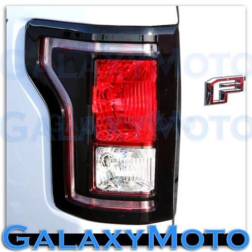 small resolution of details about 15 17 ford f150 truck gloss black plated taillight tail light trim bezel cover