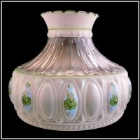 USA MADE M756 STYLE GREEN ROSES LAMP SHADE fits ALADDIN