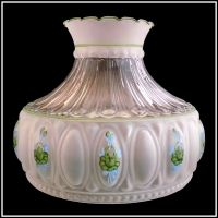 USA MADE M756 STYLE GREEN ROSES LAMP SHADE fits ALADDIN ...