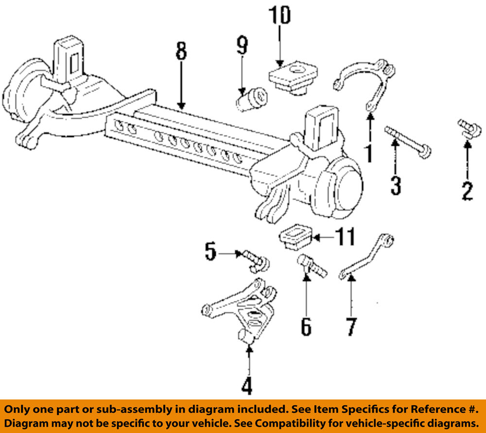 hight resolution of details about gm oem rear suspension susp crossmember lower insulator 25678602