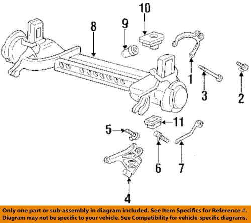 small resolution of details about gm oem rear suspension susp crossmember lower insulator 25678602