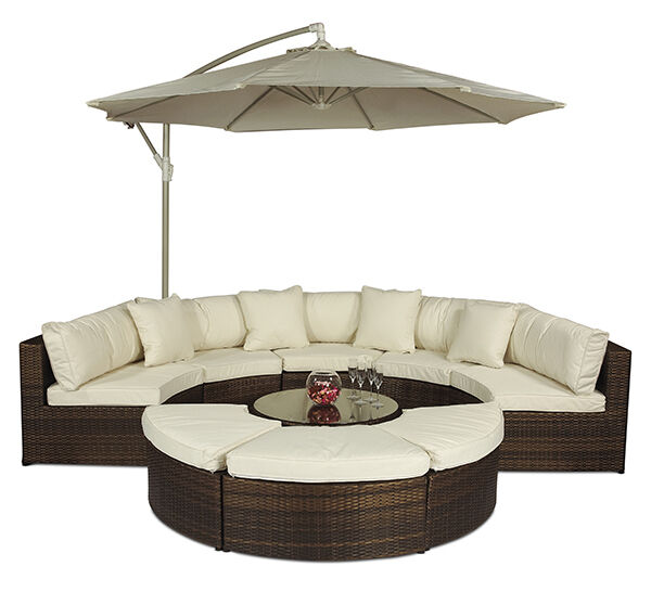 rattan 2 seater sofa cover outdoor metal sectional monaco round set garden furniture with ...