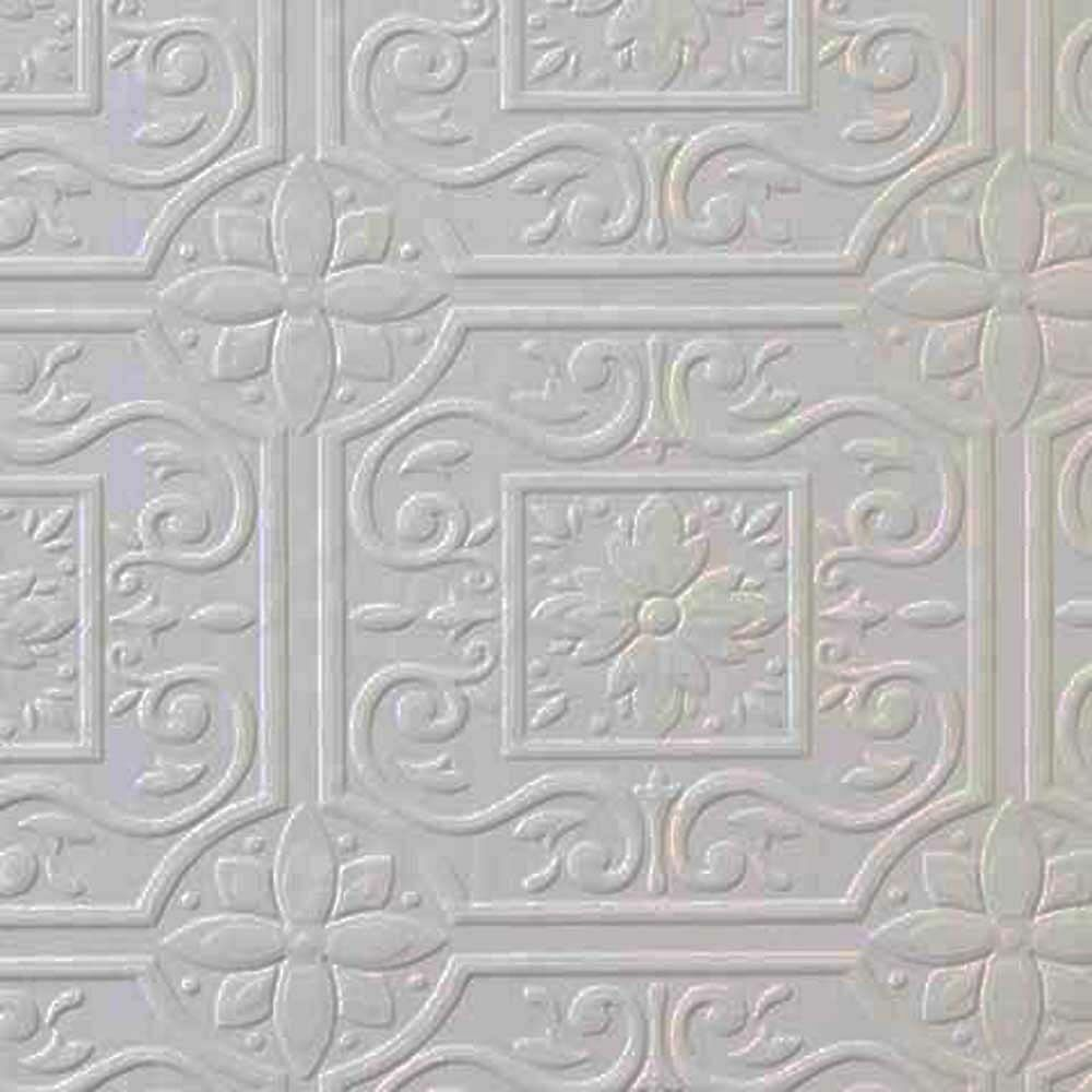Faux Tin Ceiling Tile Textured Paintable Wallpaper 148