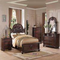 Daruka Cherry Formal Traditional Antique Queen Bed 4Pcs ...
