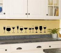 Wine Glasses Vinyl Decal Wall Sticker Kitchen Decor Art | eBay