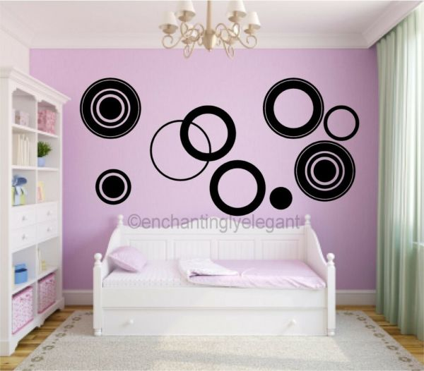 Large Circles Vinyl Decal Wall Stickers Teen Girl Boy Room