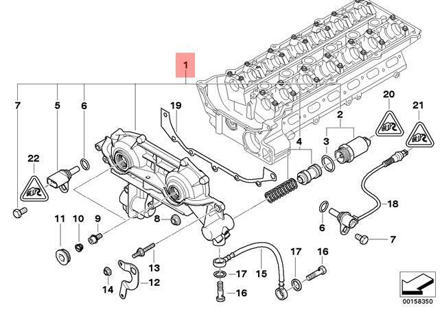 Genuine BMW E38 E39 E46 E53 E60 M52 M54 Double Dual VANOS