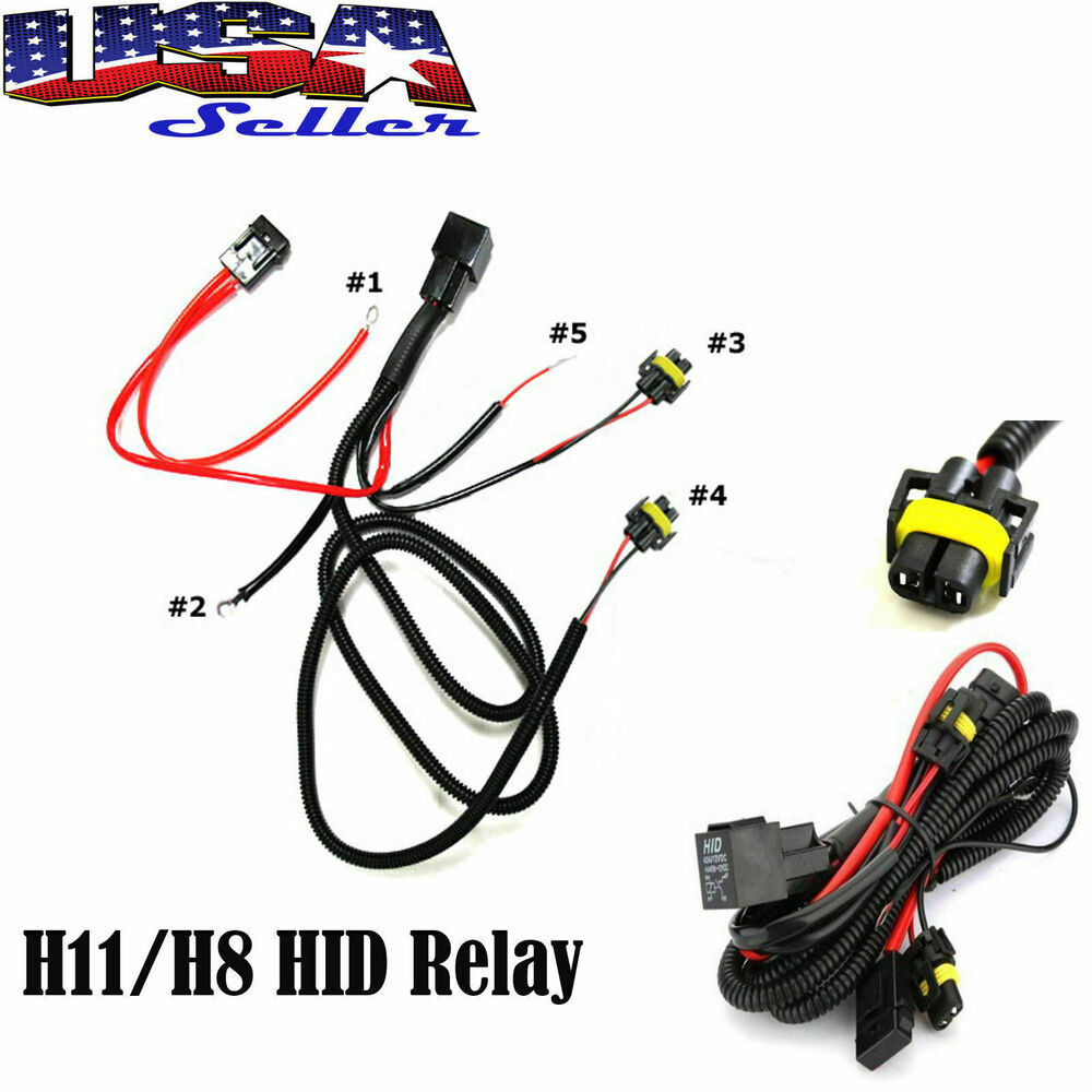 hight resolution of details about h11 880 relay wiring harness for hid conversion kit add on fog lights led drl
