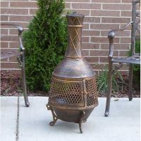Outdoor Patio Fireplace Backyard Fire Pit Chiminea Wood