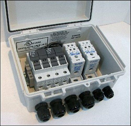 Wire Residential Solar Panel Power Fuse Combiner Box Select Fuse Size