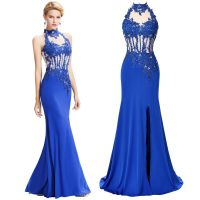 Applique Formal Long Bridesmaid Prom Wedding Gown Party ...