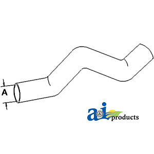 A-1672724M1 Massey Ferguson Parts HOSE AIR CLEANER 231