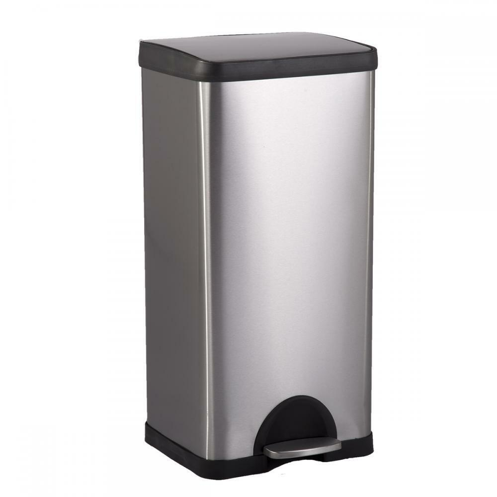tall kitchen trash cans display system bestoffice 10 gallon/ 38l step stainless-steel can ...
