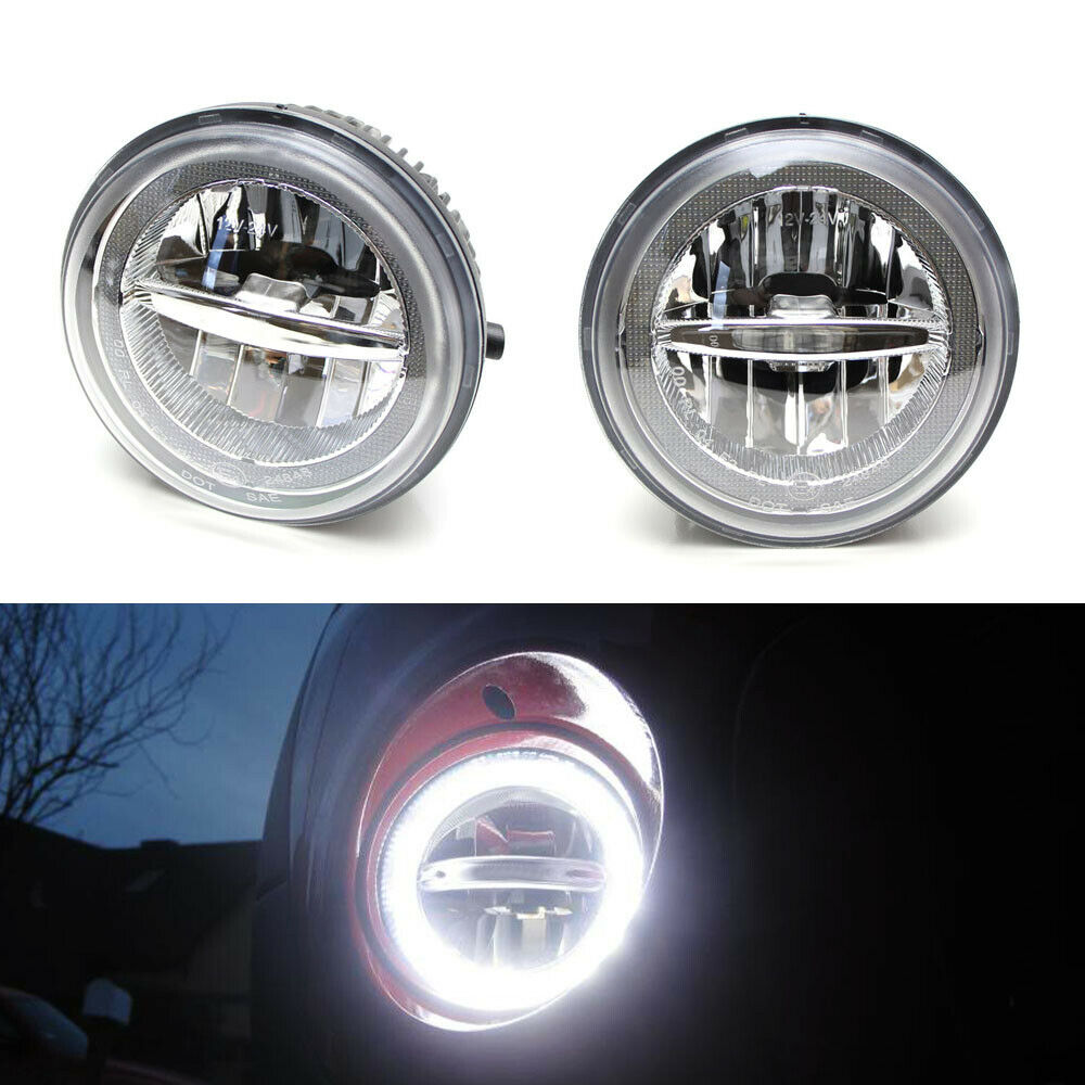 medium resolution of details about 30w cree led halo ring drl fog lights w wiring for tundra tacoma sequoia solara