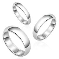 AUTHENTIC Round Plain Wedding Band SOLID .925 Sterling ...