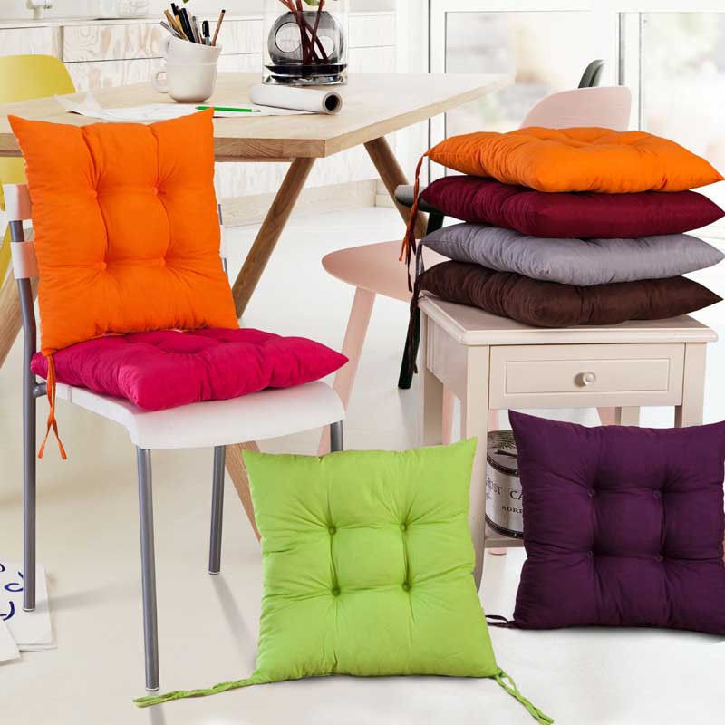 NEW COLOURFUL SEAT PAD DINING ROOM GARDEN KITCHEN CHAIR