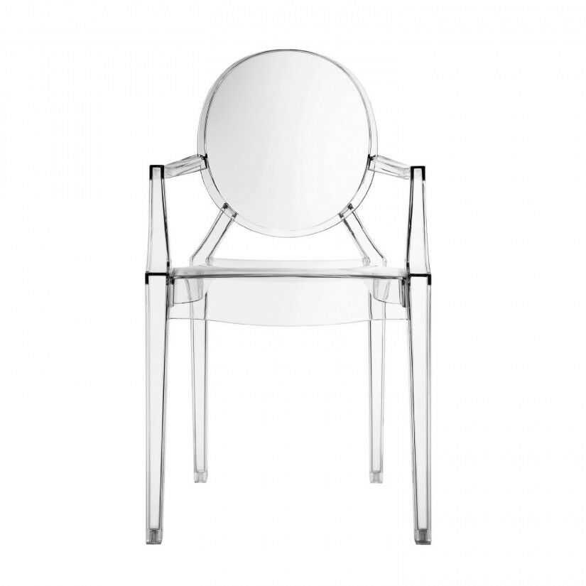 clear chiavari chairs dining room chair covers sure fit ghost arm transparent acrylic style louis armchair | ebay