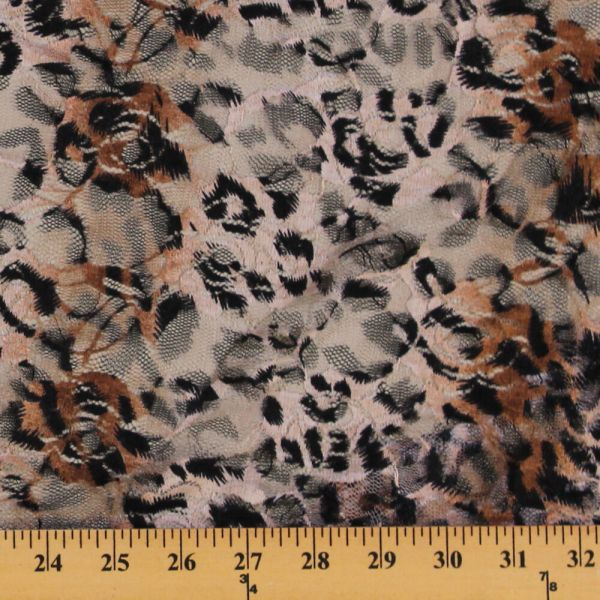 Leopard Stretch Fabric by the Yard