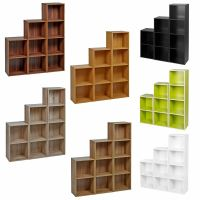 2 3 4 Tier Wooden Bookcase Shelving Display Shelves ...