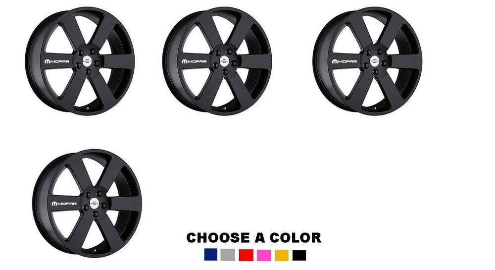 MOPAR 4X Stickers wheels rims Decal Decals Vinyl Sticker