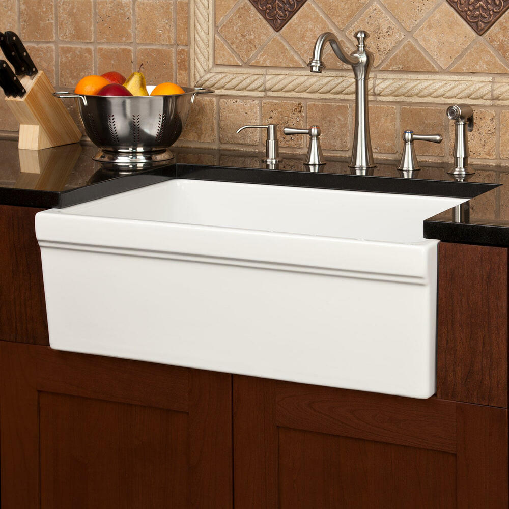 30 Damali Italian Fireclay Farmhouse Sink  eBay