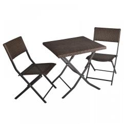 Bistro Set With Swivel Chairs Gray Chevron Chair 3-piece Table And Patio Deck Outdoor Cafe Furniture Wicker | Ebay