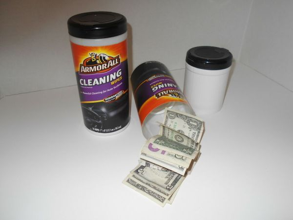ArmorAll Cleaning Wipes Stash Can Bottle Secret Hidden