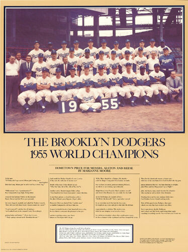 BROOKLYN DODGERS 1955 World Series Champions Commemorative